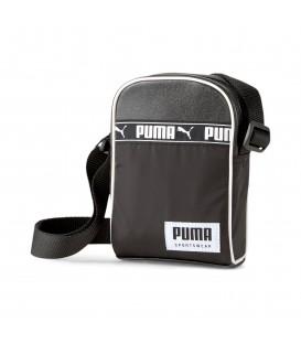 Bolso Puma Campus Compact Portable unisex en color negro disponible en tu tienda online chemasport.es