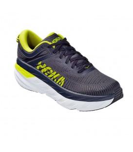 Zapatillas Hoka Bondi 7 para hombre en color azul marino disponibles en tu tienda online www.chemasport.es