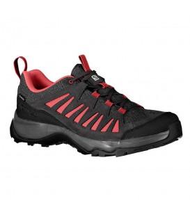 Zapatillas salomon eos goretex para mujer en color negro y rosa en la tienda online chemasport.es
