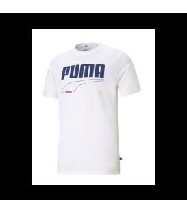 Camiseta de Puma Puma Rebel Tee Desert Sage para hombre en color blanco disponible en tu tienda online www.chemasport.es