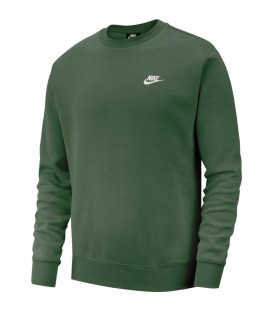 Sudadera Nike sportwear club en color verde oscuro para hombre en tu tienda online de deportes chemasport.es