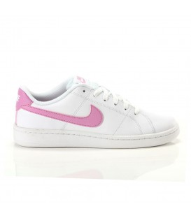 Zapatillas Nike Borough Low 2 en color blanco y rosa para mujer al mejor precio en tu tienda online de moda sportwear www.chemasport.es