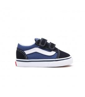 zapatillas vans old skool para niño con cierre de velcro y en color azul marino al mejor precio