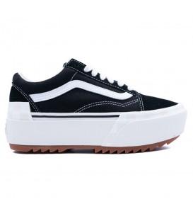 zapatillas vans ua sk8-hi stacked con plataforma de color negro para mujer al mejor precio