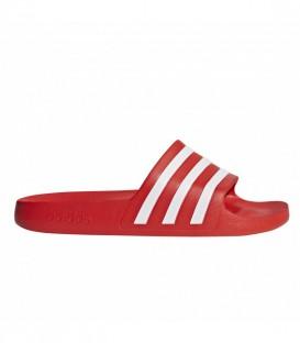 Chanclas Adidas Adilette Aqua unisex en color rojo al mejor precio en tu tienda online de calzado de natación www.chemasport.es