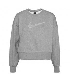 Sudadera Nike Dri-FIT Get Fit en color gris para mujer al mejor precio en tu tienda online de deporte www.chemasport.es