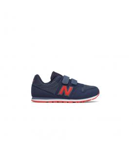 Zapatillas New Balance 500 Kids para niños y niñas en color azul marino y rojo disponible en tu tienda online de moda y deportes www.chemasport.es