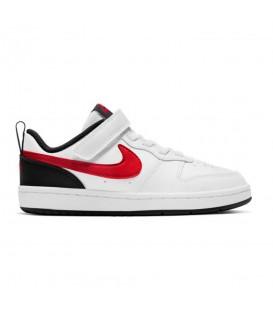 zapatillas nike borough low 2 ps en color blanco rojo al mejor precio en tu tienda online chemasport.es