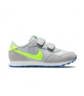 zapatillas nike md valiant en color gris para niño con cierre de velcro al mejor precio