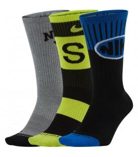 pack tres calcetines en color negro Nike SB al mejor precio