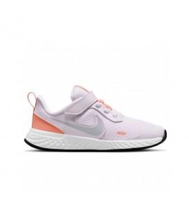 Zapatillas nike revolution para niño en color rosa con cierre de velcro al mejor precio