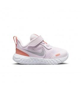 zapatillas nike revolution 5 en color blanco para niño al mejor precio
