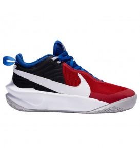zapatillas Nike Team Hustle para niño en color negro-rojo al mejor precio en tu tienda online chemasport.es