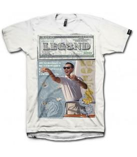 Camiseta Leg3nd Wolf unisex en color blanco disponible al mejor precio en tu tienda online de moda, accesorios y deportes www.chemasport.es