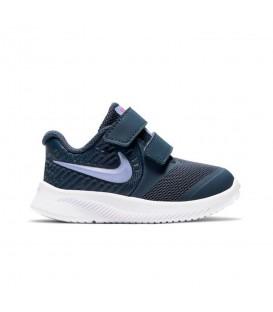 Zapatillas nike star runner para niño en color azul marino con cierre de velcro al mejor precio