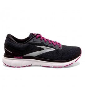 Zapatillas brooks trace para mujer en color negro al mejor precio en tu tienda online chermasport.es