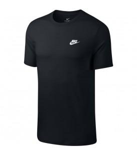 Camiseta Nike Sportwear Club para hombre en color negro disponible al mejor precio en tu tienda online de moda, accesorios y deportes www.chemasport.es