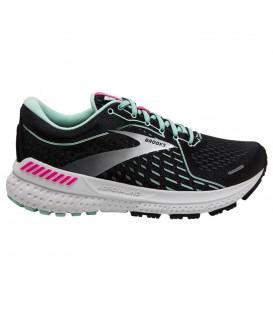 zapatillas brooks adrenaline gts 21 para mujer en color negro disponible en chema sport
