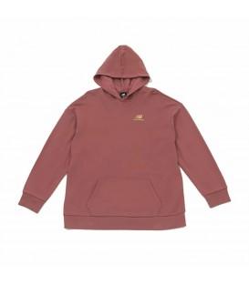 Sudadera New Balance Hoodie para mujer en color rosa disponible al mejor precio en tu tienda online de moda y deportes www.chemasport.es