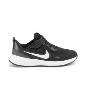 zapatillas nike revolution 5 little kids para niño en color negro para running disponible en mas colores