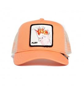 Gorra Goorin Bros Big Flirt en color coral disponible al mejor precio en tu tienda online de accesorios sportwear www.chemasport.es