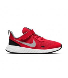 zapatillas Nike Revolution 5 para niño en color rojo al mejor precio disponible en tu tienda de deportes y moda www.chemasport.es