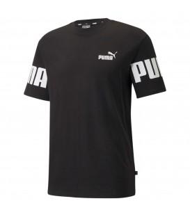 camiseta puma power para hombre en color negro al mejor precio en tu tienda de deportes y moda www.chemasport.es