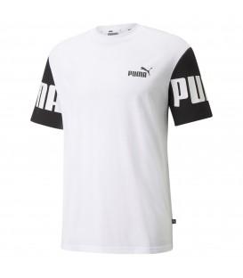 camiseta puma power para hombre en color blanco al mejor precio disponible en tu tienda de moda y deportes