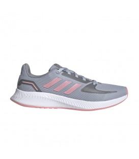 Zapatillas Adidas Runfalcon 2.0 en color gris y rosa disponible al mejor precio en tu tienda online de moda y deportes www.chemasport.es