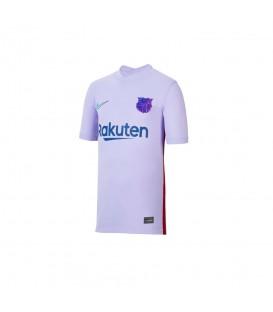 Camiseta Nike FC Barcelona 2021/22 para niño y niña en color lila disponible al mejor precio en tu tienda online de moda y deportes www.chemasport.es
