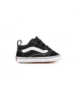 Zapatillas Vans In Old Skool Crib para bebé en color negro disponible al mejor precio en tu tienda online de moda y deportes www.chemasport.es