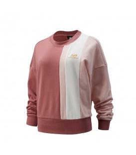 Sudadera New Balance Learning para mujer en color rosa disponible al mejor precio en tu tienda online de moda y deportes www.chemasport.es