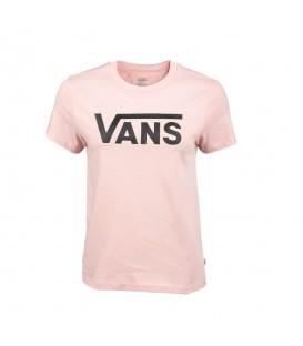 Camiseta Vans WM Flying V Crew Tee para mujer en color rosa disponible al mejor precio en tu tienda online de moda y deportes www.chemasport.es