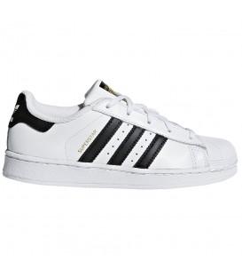 Zapatillas Adidas Superstar C en color blanco y negro disponible al mejor precio en tu tienda online de moda y deportes www.chemasport.es
