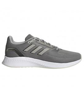 zapatillas adidas run falcon 2 de running para hombre en color gris con cierre de cordones disponible al mejor precio en tu tienda online chemasport.es