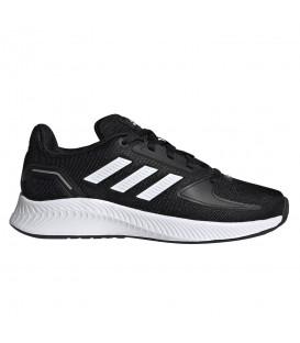 zapatillas adidas run falcon 2.0 k para mujer y niño en color negro para caminar al mejor precio en tu tienda y en tu tienda online chemasport.es