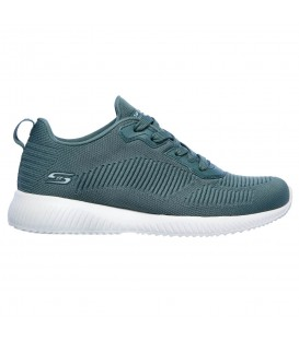 Zapatillas Skechers Bobs Squad para mujer en color gris disponible al mejor precio en tu tienda online de moda y deportes www.chemasport.es