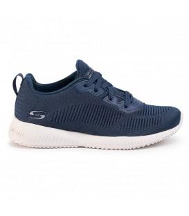Zapatillas Skechers Bobs Squad para mujer en color azul marino disponible al mejor precio en tu tienda online de moda y deportes www.chemasport.es