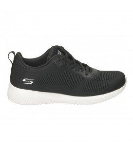 Zapatillas Skechers Bobs Squad para mujer en color negro disponible al mejor precio en tu tienda online de moda y deportes www.chemasport.es