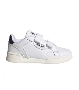 zapatillas adidas roguera para niño en color blanco con cierre de velcro al mejor precio disponible en tu tienda y en tu tienda online chemasport.es
