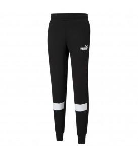 Pantalón Puma ESS Colorblock Pants para hombre en color negro al mejor precio en tu tienda online de moda, accesorios y deportes www.chemasport.es