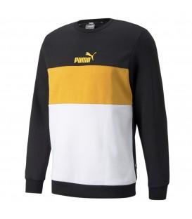Sudadera Puma ESS Colorblock para hombre en color amarillo disponible al mejor precio en tu tienda online de moda, accesorios y deportes www.chemasport.es