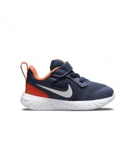 Zapatillas Nike Revolution 5 para niños de color azul marino disponible al mejor precio en tu tienda online de moda, accesorios y deportes www.chemasport.es