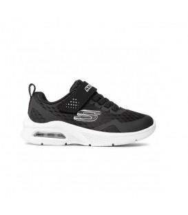 Zapatillas Skechers Microspec Max para niño en color negro disponible al mejor precio en tu tienda online de moda, accesorios y deportes www.chemasport.es
