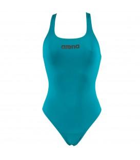 Bañador para natación de mujer Arena Malteks en color azul y con el logo de Arena