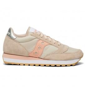 Zapatillas para mujer Saucony Jazz Originals de color beis al mejor precio en tu tienda online de deporte, accesorios y moda www.chemasport.es