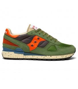Zapatillas para hombre Saucony Shadow Originals de color verde y naranja al mejor precio en tu tienda online de deporte, accesorios y moda www.chemasport.es