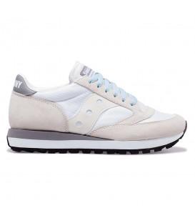 Zapatillas para mujer Saucony Jazz 81 de color blanco al mejor precio en tu tienda online de deporte, accesorios y moda www.chemasport.es