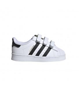 Zapatillas para niños Adidas Superstar CF de color blanco al mejor precio en tu tienda online de deporte, accesorios y moda www.chemasport.es
