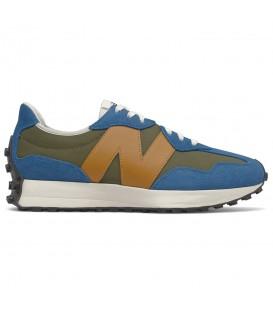 Zapatillas New Balance 327 para hombre en color verde y azul al mejor precio en tu tienda online de deporte, accesorios y moda www.chemasport.es